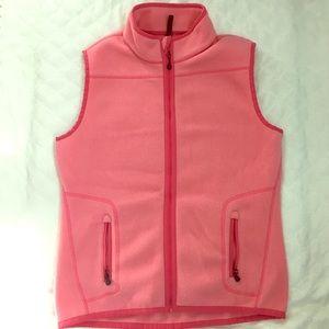 Vineyard Vines Women's Pink Fleece Vest Small